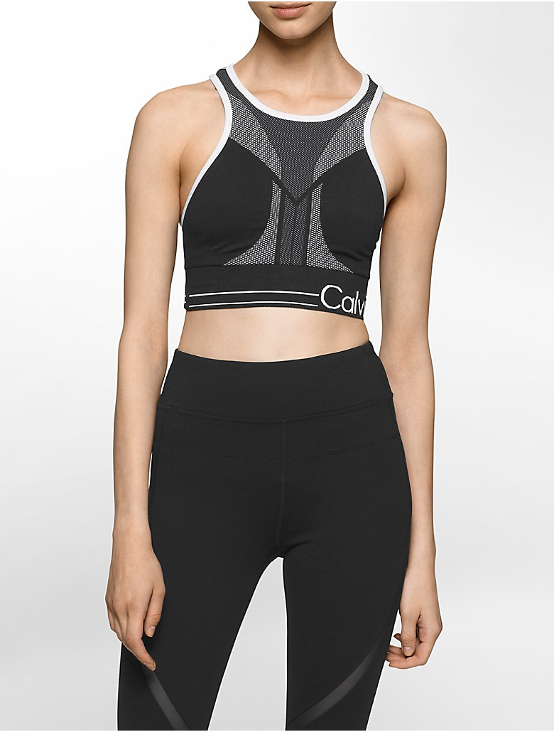 calvin klein womens performance logo reversible sports bra. Black Bedroom Furniture Sets. Home Design Ideas
