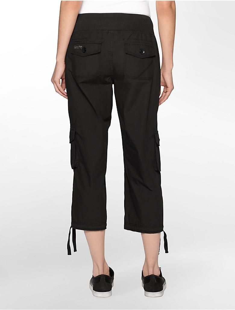 Brilliant Dkny Slim Cropped Cargo Pants In Gray Slate Grey  Lyst