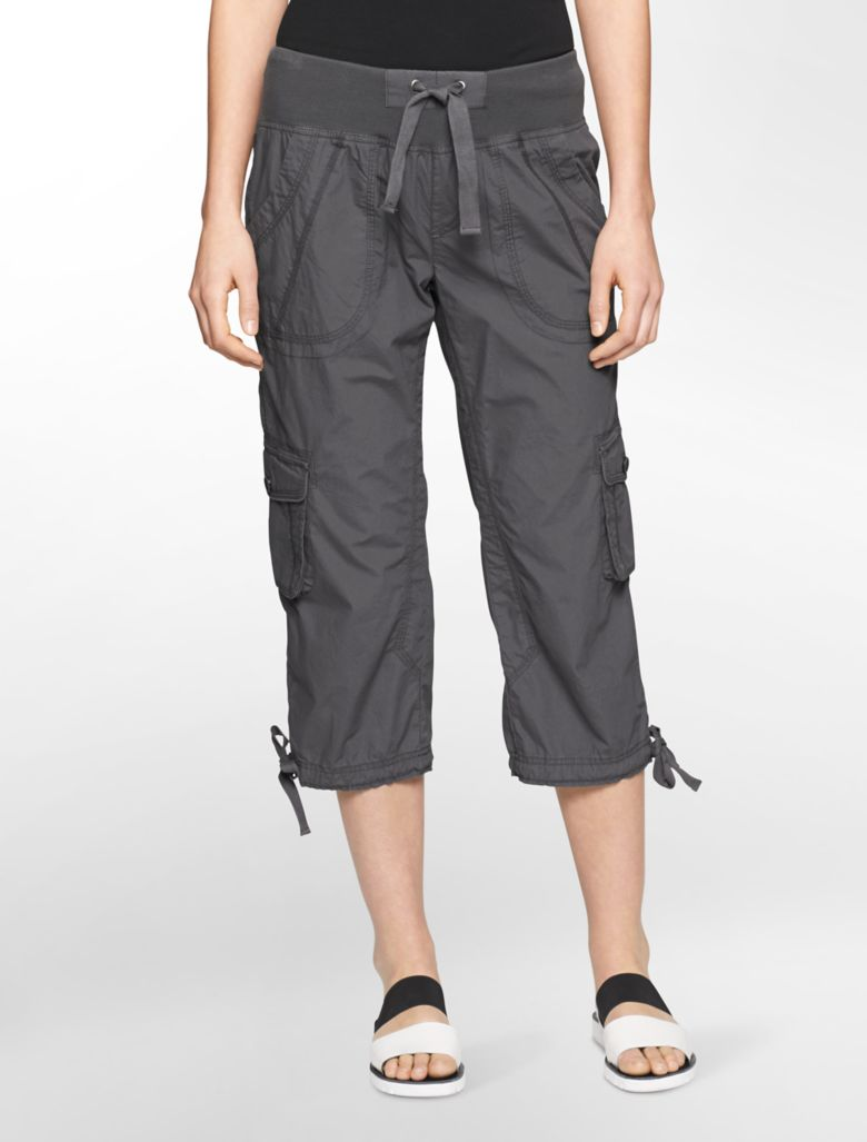 Innovative Calvin Klein Performance Cargo Capri Pants In Green Quail  Lyst