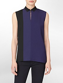 textured colorblock sleeveless top $24.99
