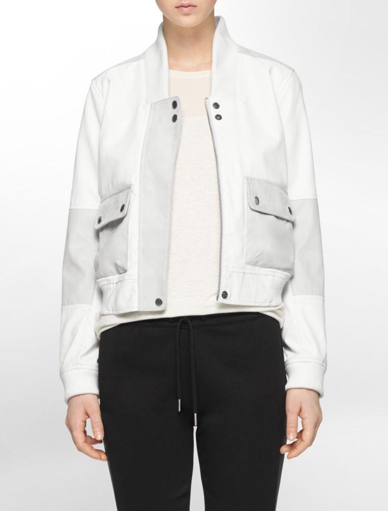 Leather bomber jacket ebay