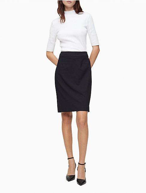 navy pencil suit skirt | Calvin Klein