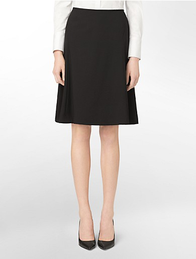 black a-line suit skirt | Calvin Klein