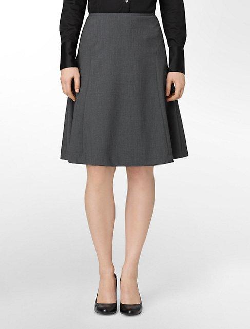 charcoal a-line suit skirt   Calvin Klein