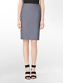 chambray pencil skirt $29.99