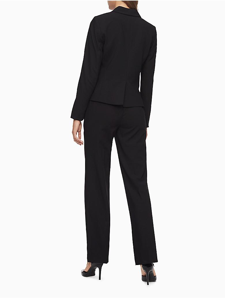 Fantastic Calvin Klein Women39s Black Cream 2piece Pant Suit  13832625