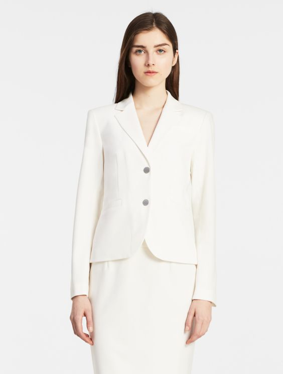 two button cream suit jacket | Calvin Klein