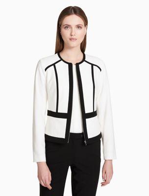 Black and white long jacket