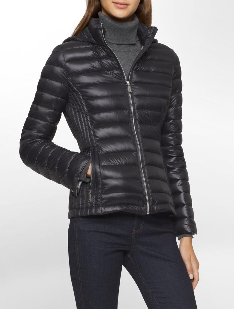 calvin klein womens lightweight packable down hooded ...