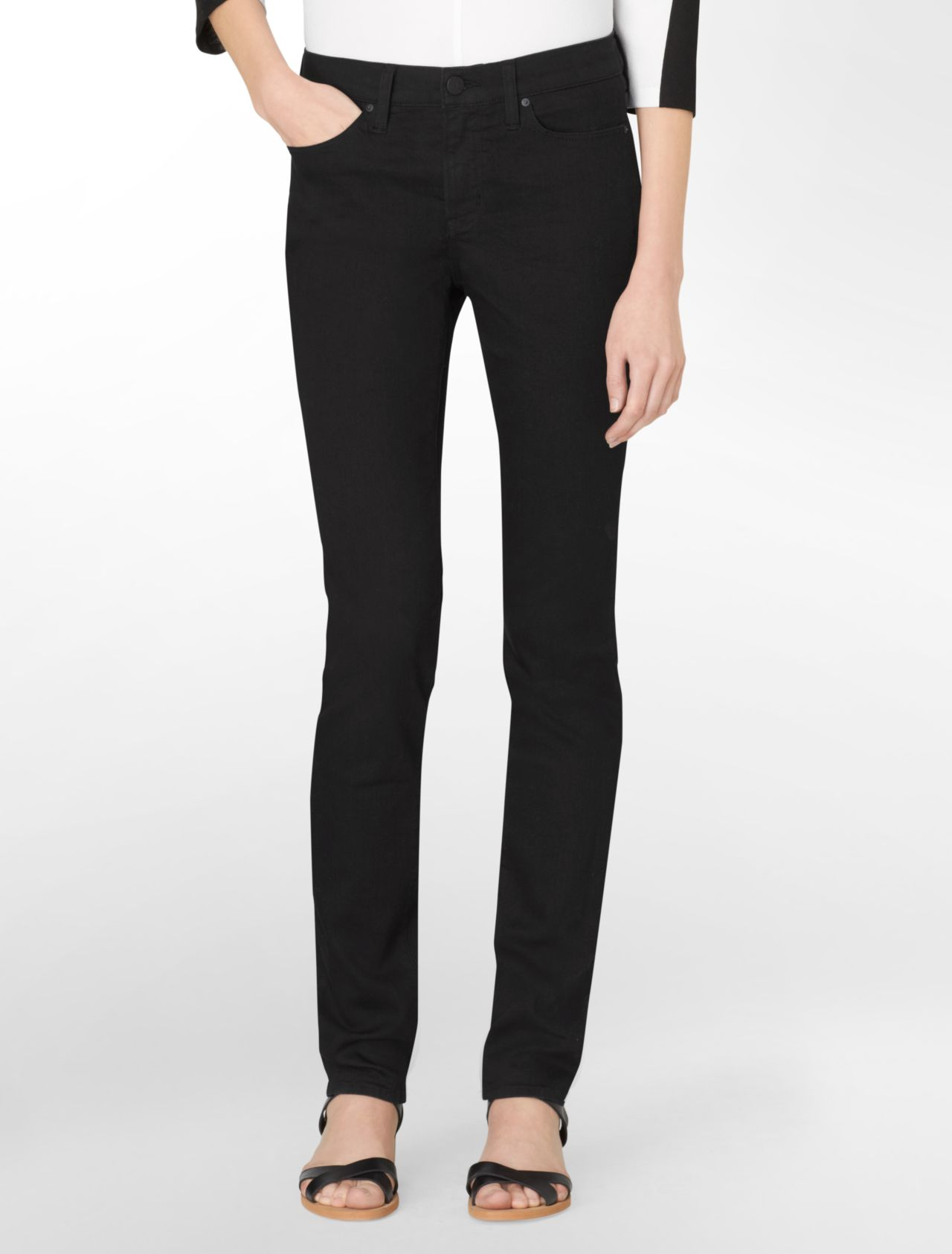 ultimate skinny leg black wash jeans | Calvin Klein