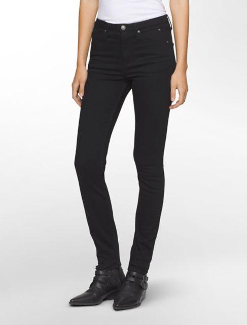 sculpted black stretch skinny jeans | Calvin Klein