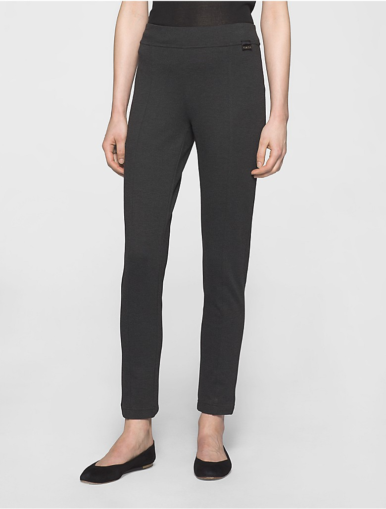calvin klein womens power stretch seamed leggings ebay. Black Bedroom Furniture Sets. Home Design Ideas