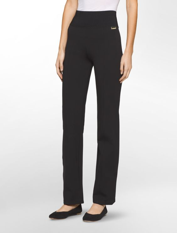 Womens Cotton-Blend Twill Straight-Leg Pants Calvin Klein