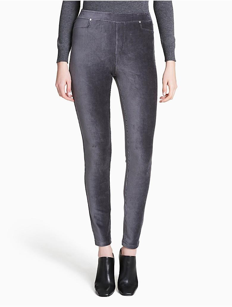 calvin klein womens solid ribbed leggings ebay. Black Bedroom Furniture Sets. Home Design Ideas