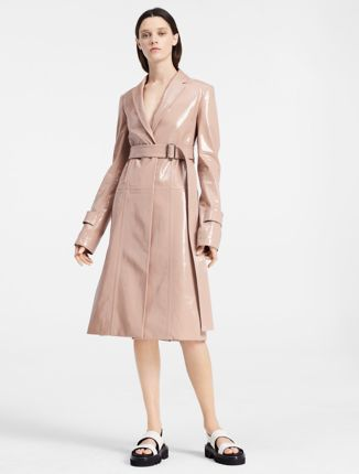 Baby Pink Wool Coat | Down Coat