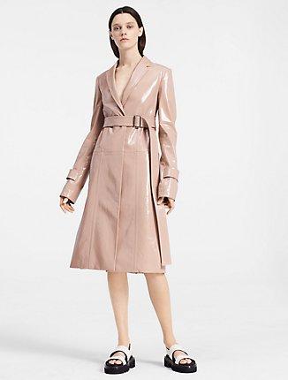 Baby Pink Wool Coat | Down Coat