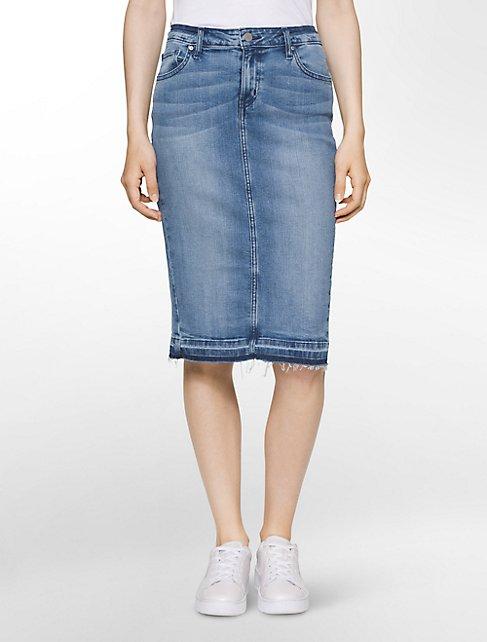 faded denim skirt   Calvin Klein