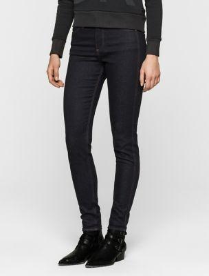 Black Stretch Skinny Jeans Womens