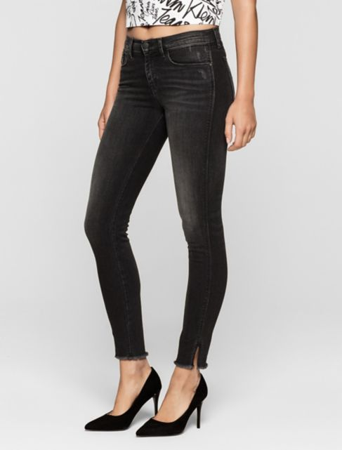 skinny faded black twisted jeans | Calvin Klein