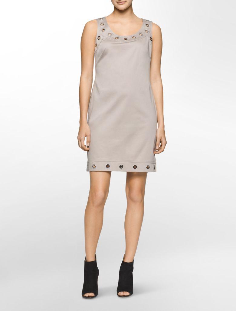 Elegant Calvin Klein Women39s CapSleeve SideRuched Sheath Dress At Amazon