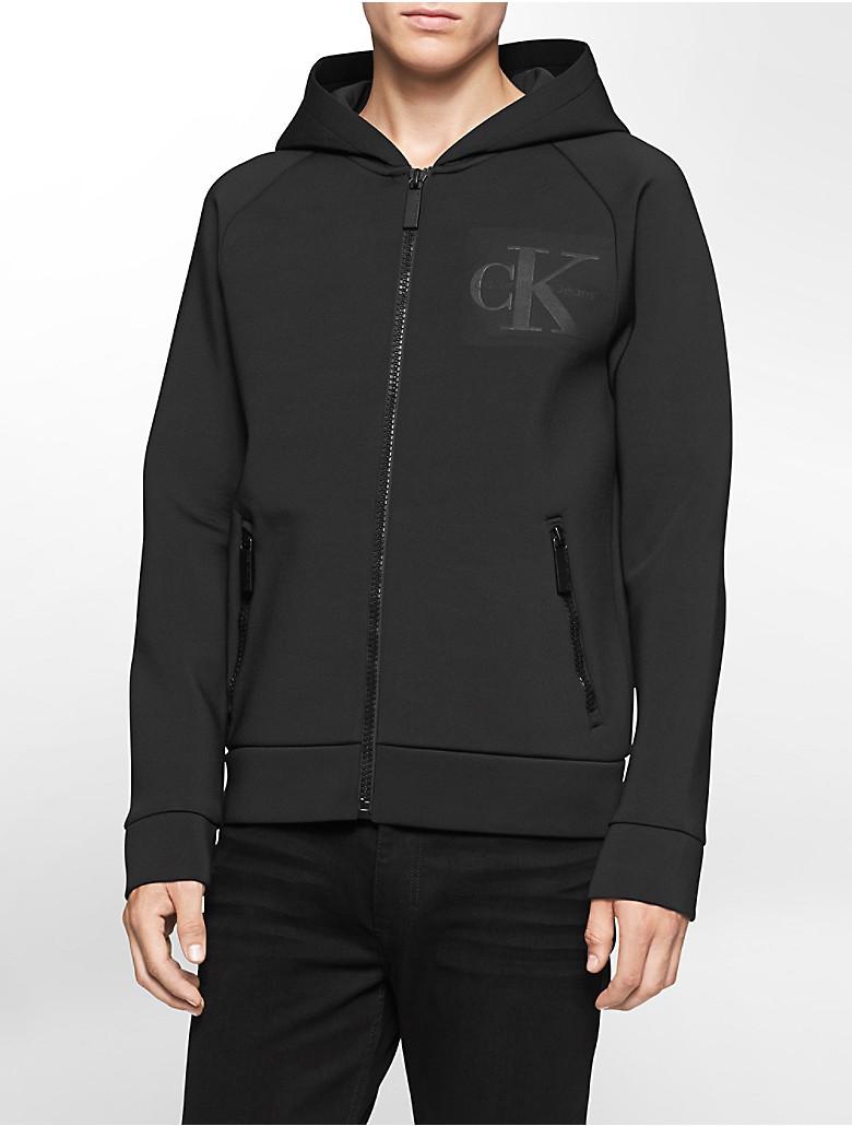 calvin klein mens spacer zip front hoodie jacket ebay. Black Bedroom Furniture Sets. Home Design Ideas