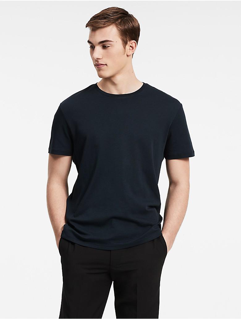 Calvin klein mens classic fit pima cotton crewneck t shirt for Calvin klein x fit dress shirt