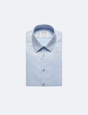 Mens white slim fit dress shirts