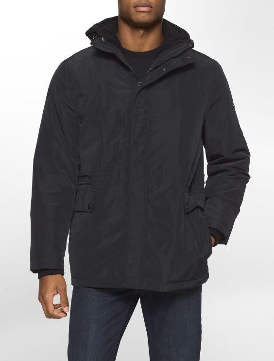 sherpa fleece hooded jacket | Calvin Klein