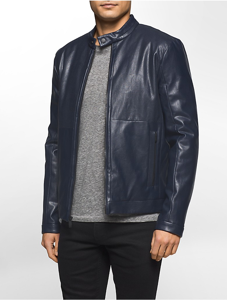 Discover our range of men's leather & suede jackets at ASOS. Shop the latest leather bomber jackets for men in a variety of styles and colours. your browser is not supported. River Island faux suede biker jacket with borg collar in brown. £ Selected Homme Leather Biker Jacket With Wool Lapel Detail.
