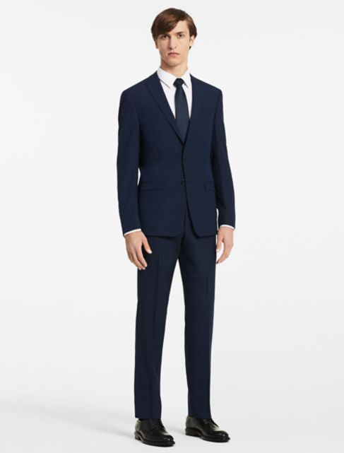 x fit ultra slim fit navy suit jacket | Calvin Klein