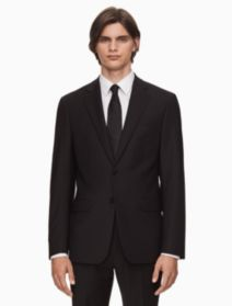x fit ultra slim fit black suit | Calvin Klein
