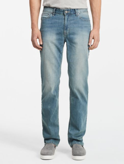 straight leg silver bullet light wash jeans | Calvin Klein