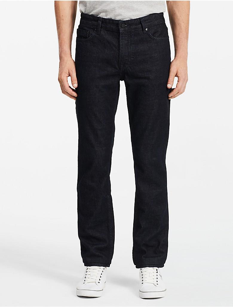calvin klein mens slim straight leg osaka blue wash jeans. Black Bedroom Furniture Sets. Home Design Ideas