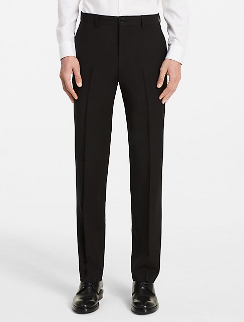 x fit ultra slim fit black suit pants | Calvin Klein