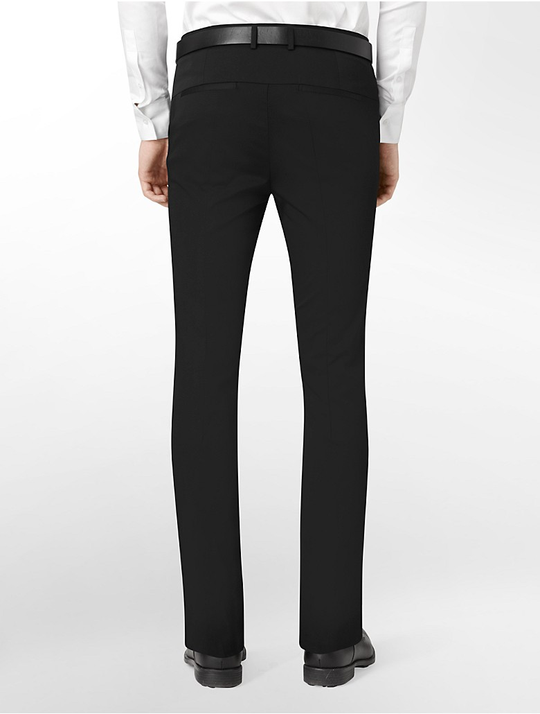 Calvin klein mens ultra slim fit stretch dress pants ebay for Calvin klein slim fit stretch shirt