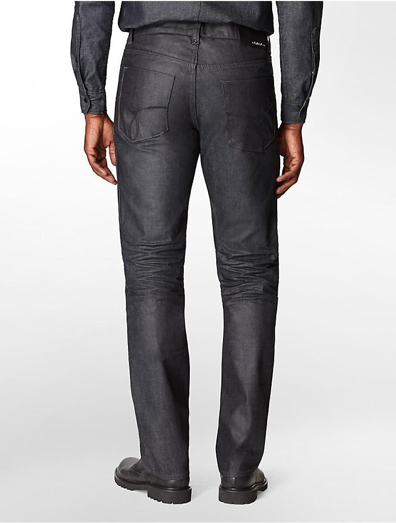 calvin klein mens slim straight leg dark wash jeans | eBay - photo#13