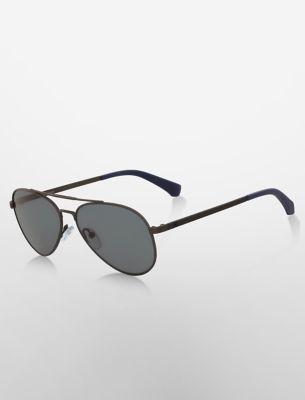 Small Black Aviator Sunglasses