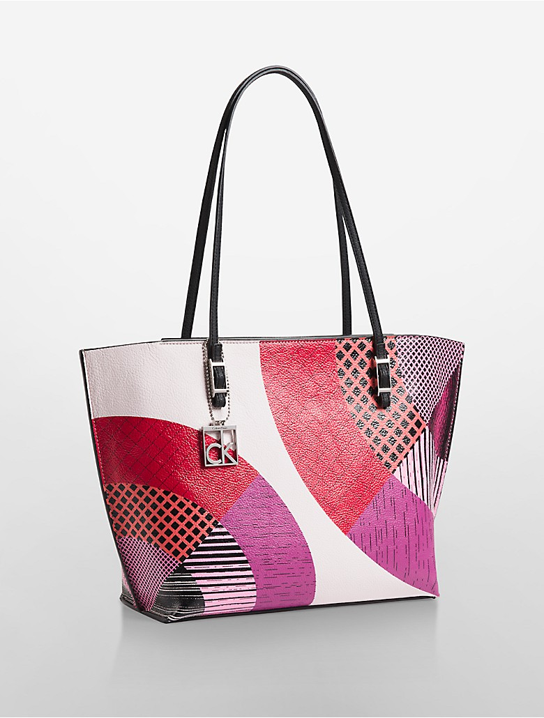 calvin klein womens hailey abstract colorblock shopper. Black Bedroom Furniture Sets. Home Design Ideas