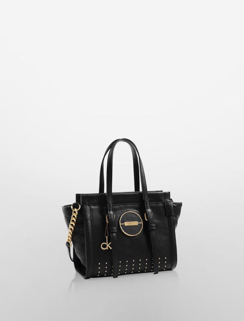 Simple Calvin Klein Women39s Light Brown CK Logo Satchel Bag  Polyvore