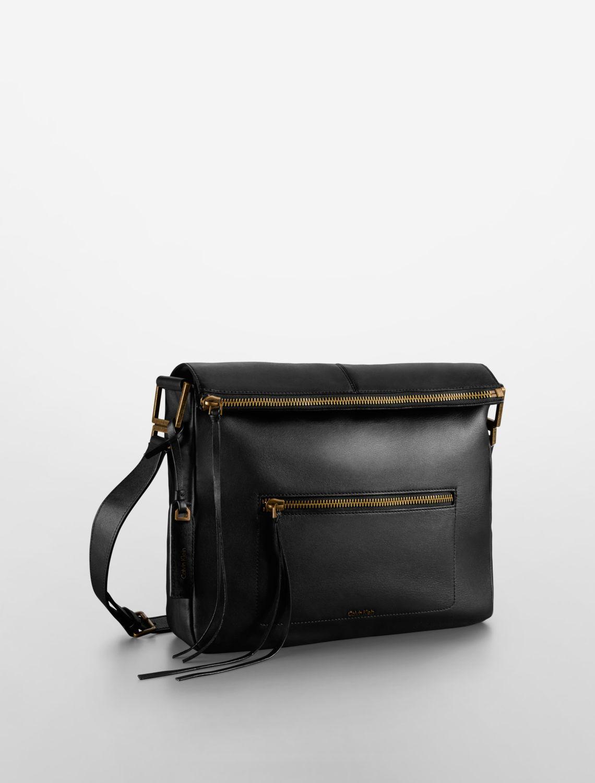 Calvin Klein Black Leather Shoulder Bag 78