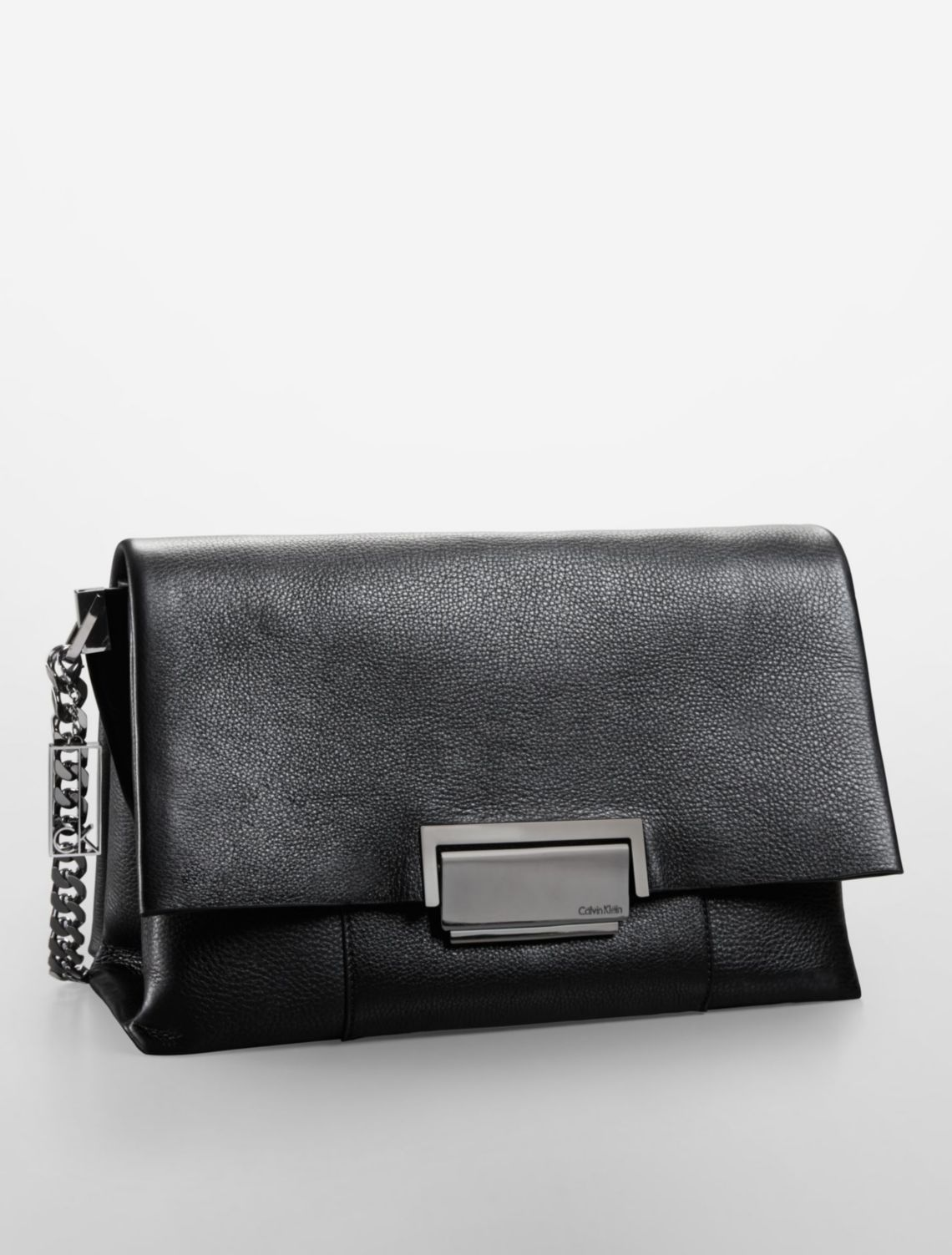 Calvin Klein Black Leather Shoulder Bag 52