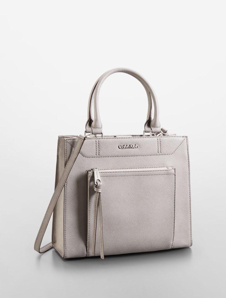 Unique Calvin Klein Women39s Leather Sofie Small Bowler Bag  BlackCamel