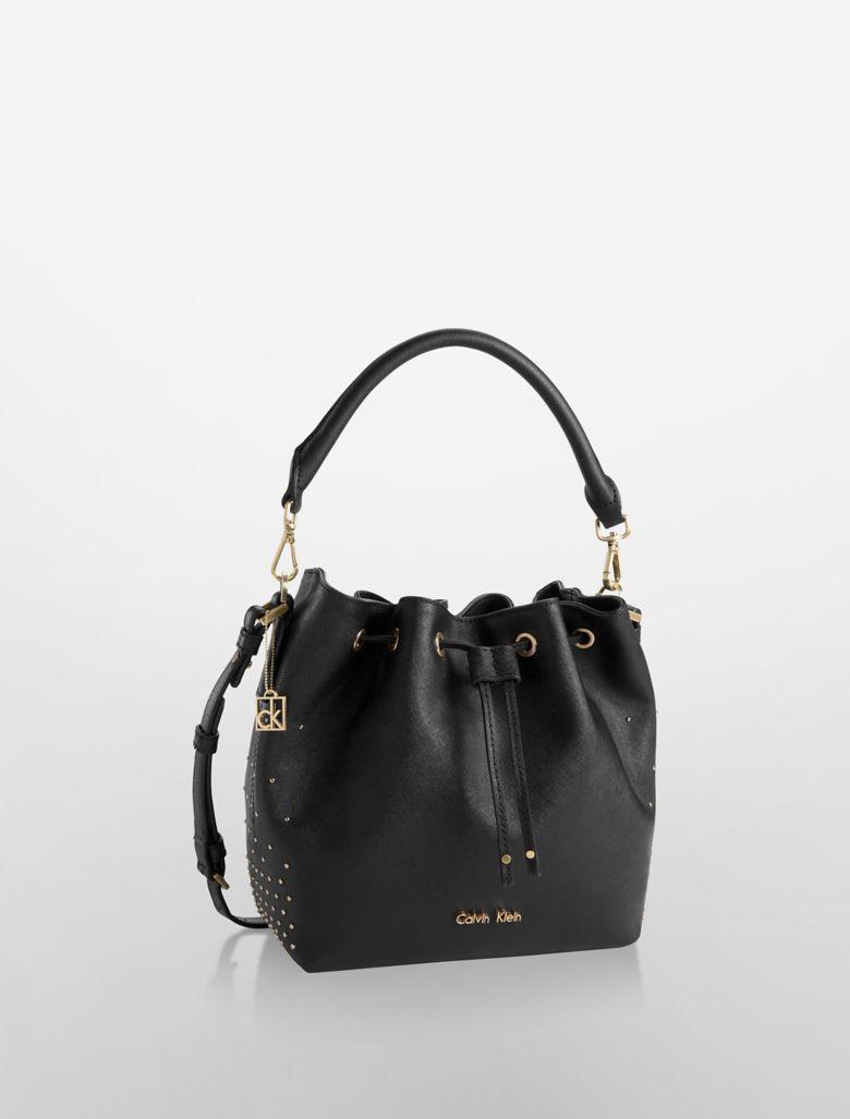 New Calvin Klein Womens Sloane Double Compartment Hobo Bag  EBay
