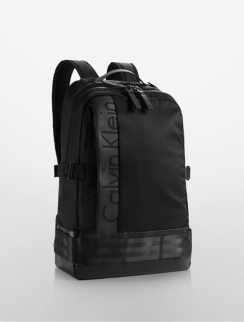 calvin klein mens pilot backpack ebay. Black Bedroom Furniture Sets. Home Design Ideas