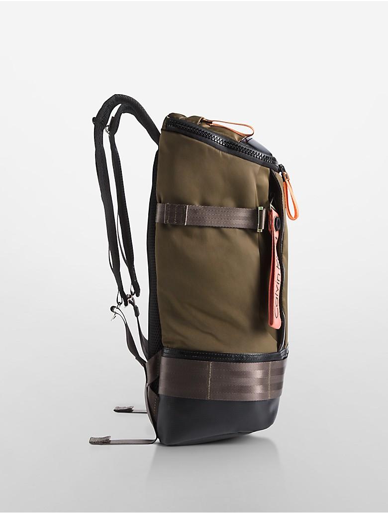 calvin klein mens pilot flap backpack ebay. Black Bedroom Furniture Sets. Home Design Ideas