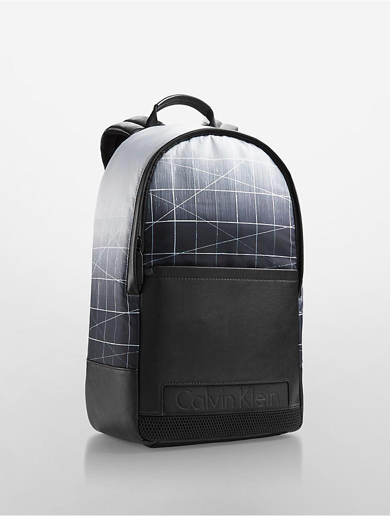 calvin klein mens austin abstract logo sporty backpack ebay. Black Bedroom Furniture Sets. Home Design Ideas
