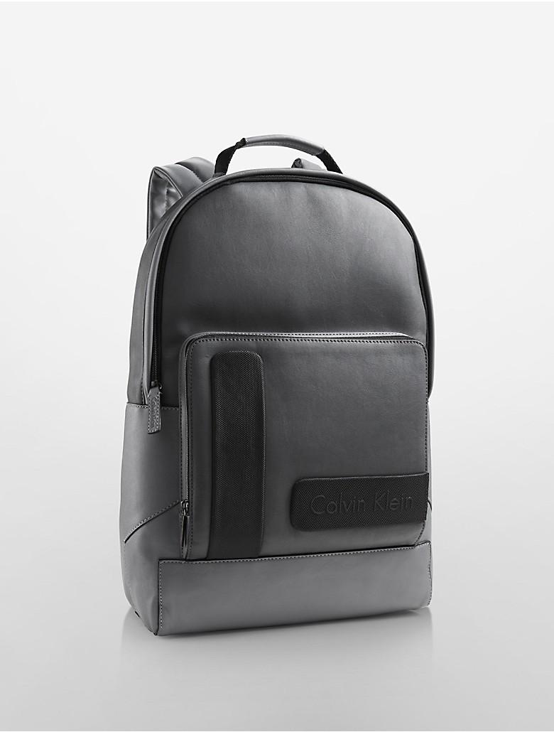 calvin klein mens devin slim backpack ebay. Black Bedroom Furniture Sets. Home Design Ideas