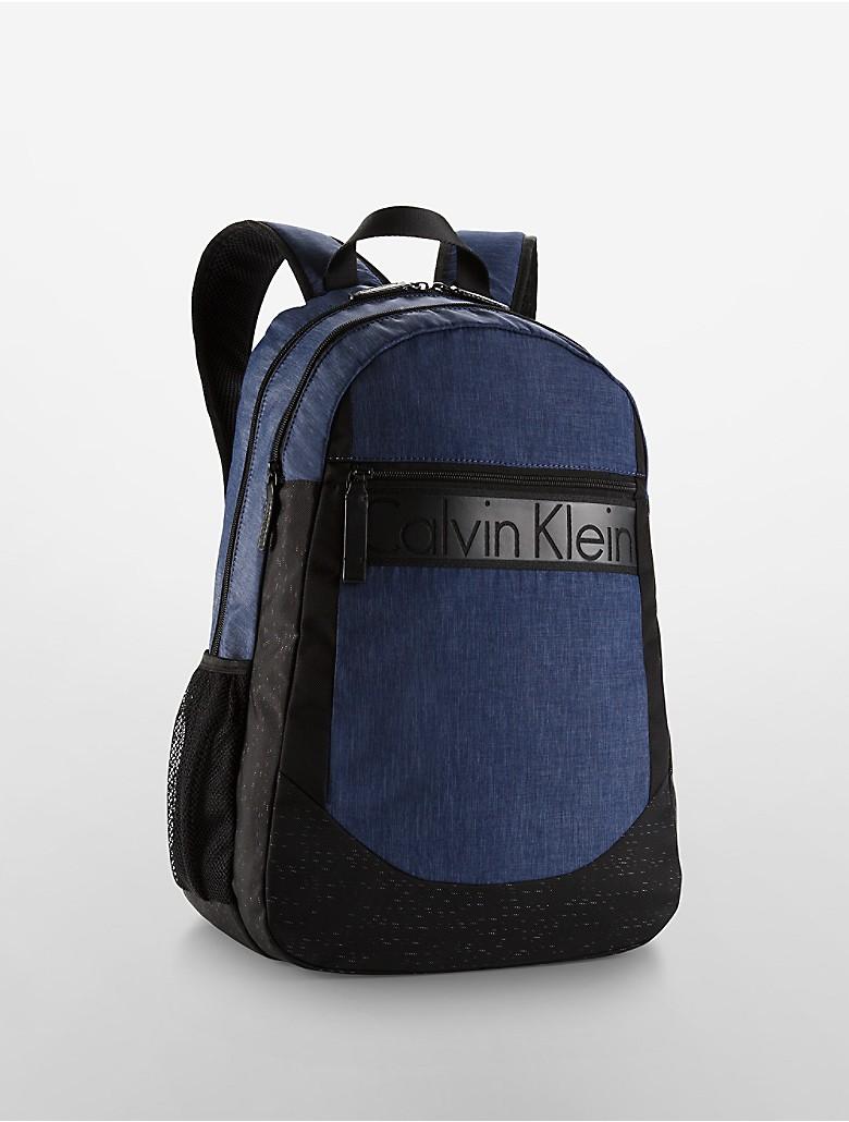 calvin klein mens logo travel light backpack midnight blue. Black Bedroom Furniture Sets. Home Design Ideas