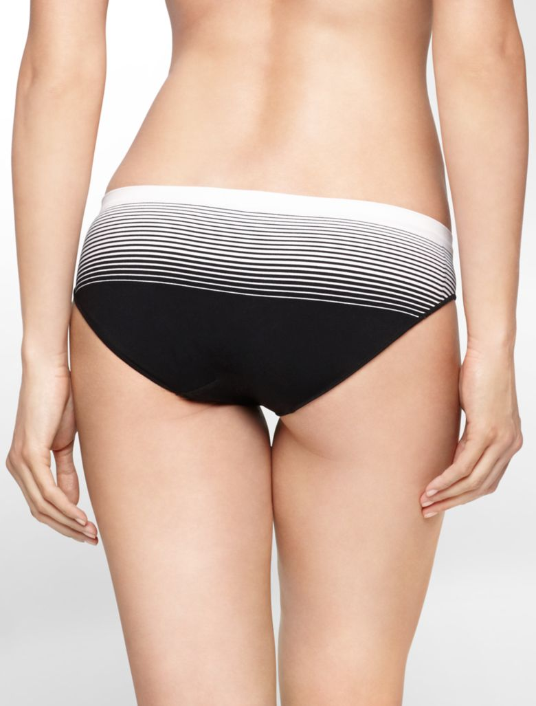 calvin klein womens seamless illusions striped hipster ...