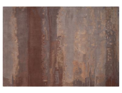 image for luster wash chrome rug in concrete from calvin klein